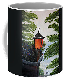Coffee Mug featuring the painting Storm On Lake Of The Woods by Marilyn  McNish