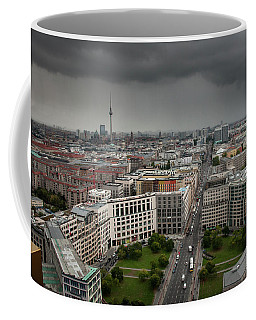 Coffee Mug featuring the photograph Storm Over Berlin by Geoff Smith