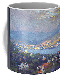 Storm Over Dilesi And Evia Island  Coffee Mug