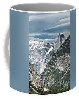 Coffee Mug featuring the photograph Storm Over Half Dome by Sandra Bronstein
