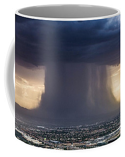 Coffee Mug featuring the digital art Storm Over Phoenix by James Weatherly