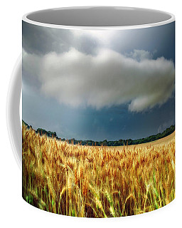 Storm Over Ripening Wheat Coffee Mug