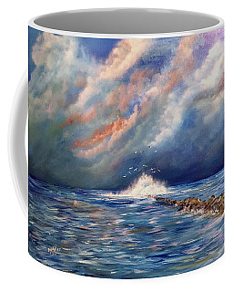 Storm Over The Ocean Coffee Mug by Dorothy Maier
