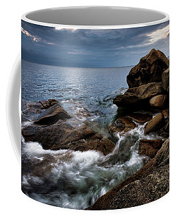 Coffee Mug featuring the photograph Storm Pass Halibut Pt. by Michael Hubley