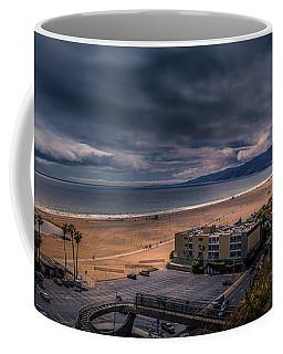 Storm Watch Over Malibu - Panarama  Coffee Mug