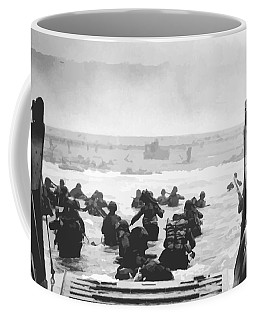 Storming The Beach On D-day  Coffee Mug