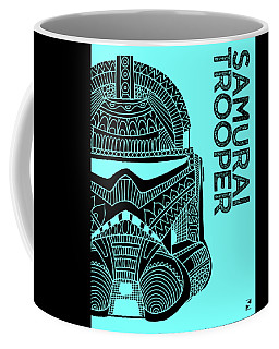 Stormtrooper Helmet - Blue - Star Wars Art Coffee Mug