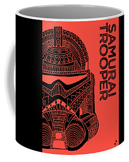 Stormtrooper Helmet - Red - Star Wars Art Coffee Mug