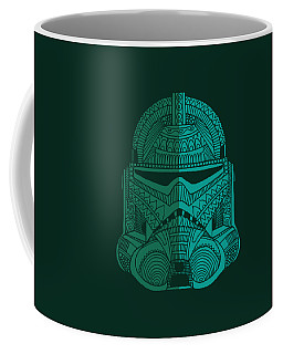 Stormtrooper Helmet - Star Wars Art - Blue Green Coffee Mug