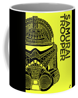 Stormtrooper Helmet - Yellow - Star Wars Art Coffee Mug