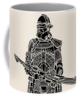 Stormtrooper Samurai - Star Wars Art - Black Coffee Mug