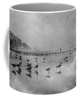 Stormy Beach Coffee Mug by Debbie Green