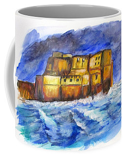 Stormy Castle Dell'ovo, Napoli Coffee Mug