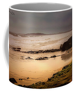 Coffee Mug featuring the photograph Stormy Day At Gallows Beach by Wallaroo Images