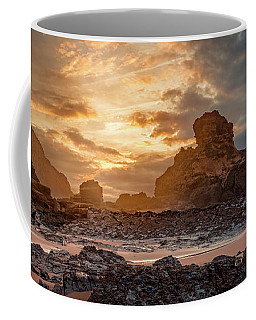Coffee Mug featuring the photograph Stormy Evening On Praia Do Castelejo by Dmytro Korol