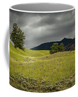 Stormy Fields Of Yellow Coffee Mug