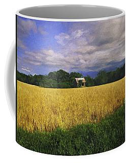 Stormy Old Barn In Wheat Field 2 Coffee Mug