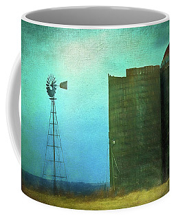 Stormy Old Silos And Windmill Coffee Mug