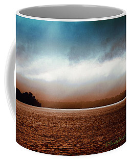 Stormy Potomac River Signed Coffee Mug