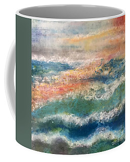 Coffee Mug featuring the painting Stormy Seas by Kim Nelson
