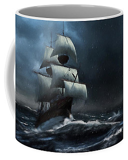 Stormy Seas - Nautical Art Coffee Mug