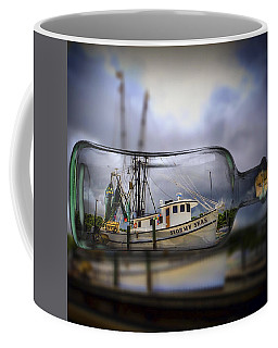Coffee Mug featuring the photograph Stormy Seas - Ship In A Bottle by Bill Barber