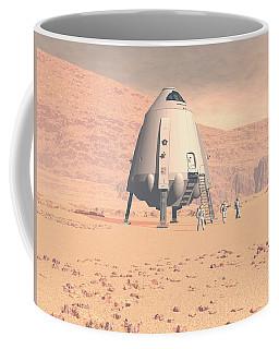 Coffee Mug featuring the digital art Stormy Skies by David Robinson