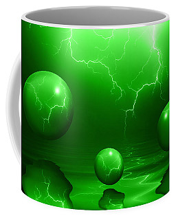 Stormy Skies - Green Coffee Mug