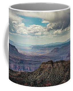 Coffee Mug featuring the photograph Stormy Sky Past Bridgers Knoll by Gaelyn Olmsted
