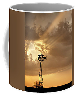 Stormy Sunset And Windmill 04 Coffee Mug