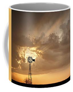 Stormy Sunset And Windmill 05 Coffee Mug