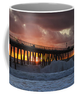 Stormy Sunset Coffee Mug by Ed Clark