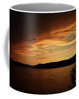 Stormy Sunset On Amoeber Lake Coffee Mug
