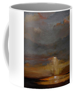 Stormy Waterscape Sunset Seascape Marsh Painting Coffee Mug by Gray Artus