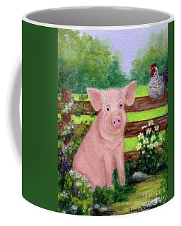 Coffee Mug featuring the painting Storybook Pig by Sandra Estes