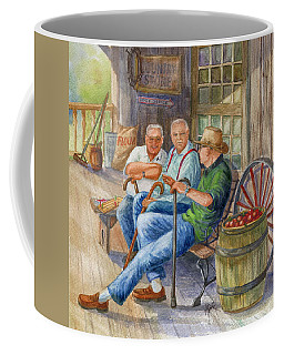 Coffee Mug featuring the painting Storyteller Friends by Marilyn Smith