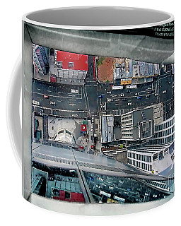 Straight Down Skyline Coffee Mug
