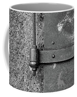 Coffee Mug featuring the photograph Straight Metal by Karol Livote