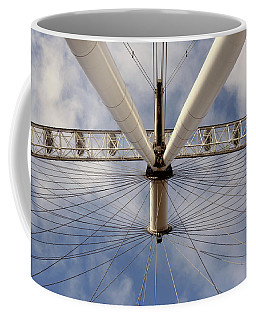 Coffee Mug featuring the photograph Straight Up London Eye by Heidi Hermes