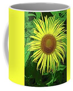 Coffee Mug featuring the photograph Strange Sunflower by Stephanie Moore