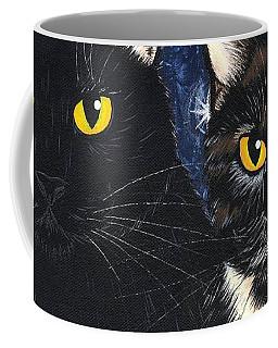 Strangeling's Felines - Black Cat Tortie Cat Coffee Mug