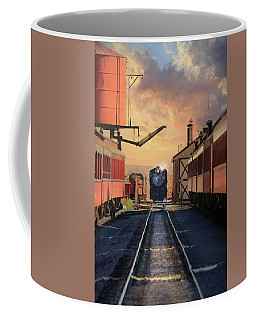 Coffee Mug featuring the photograph Strasburg Railroad Station by Lori Deiter