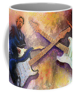 Coffee Mug featuring the painting Strat Brothers by Andrew King