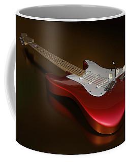 Stratocaster On A Golden Floor Coffee Mug