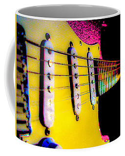 Stratocaster Pop Art Pink Fire Neck Series Coffee Mug