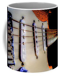 Stratocaster Pop Art Tangerine Sparkle Fire Neck Series Coffee Mug