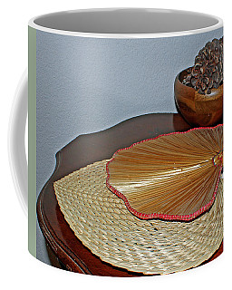 Coffee Mug featuring the photograph Straw Fans by Judy Vincent