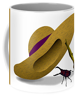 Straw Hat And Stag Beetle Coffee Mug