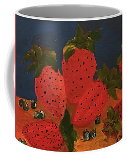 Strawberries And Blueberries Coffee Mug