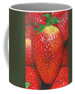Coffee Mug featuring the painting Strawberries by Nancy Nale
